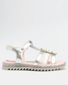 Bubblegummers Girls Slip On Sandals Silver