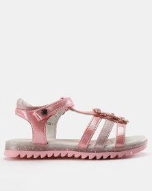 Bubblegummers Girls Slip On Sandals Pink
