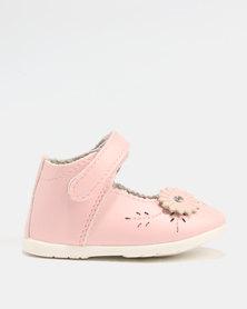 Bubblegummers Girls Strappy Pumps Pink