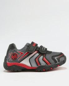 Bubblegummers Boys Casual Sneaker Grey & Red
