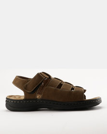 Bata Comfit Mens Slingback Sandals Brown