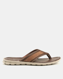 Bata Mens Thong Sandal Brown