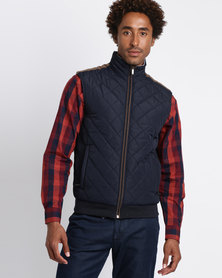 JCrew Sleeveless Quilted Jacket Navy
