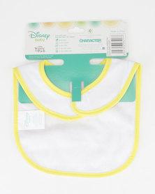 Character Brands  Winnie The Pooh Jersey Bib Yellow/White