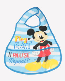 Character Brands Mickey Mouse Catcher Bib Blue/White