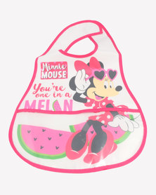 Character Brands  Minnie Mouse Catcher Bib Pink/White
