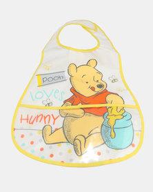 Character Brands Winnie The Pooh Catcher Bib White/Yellow