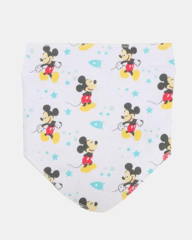 Character Brands Mickey Mouse  Bandana Bib Blue/White