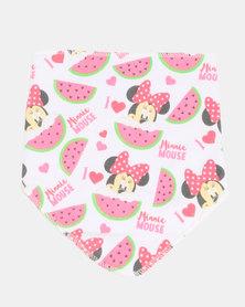 Character Brands Bandana Bib Minnie Mouse Pink