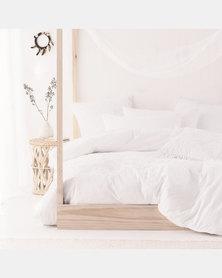 Linen House Hartley Duvet Cover Set White