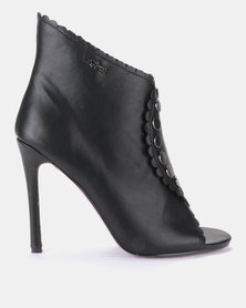 PLUM High Heel Ankle Boot Black
