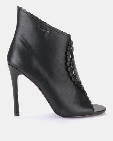 PLUM High Heel Ankle Boot Black
