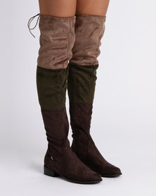 PLUM OTK Flat Boots Taupe