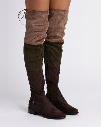 PLUM PLUM OTK Flat Boots Taupe free shipping 2015 new e58uNSIH