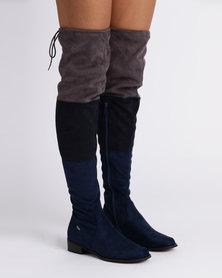 PLUM OTK Flat Boots Blue