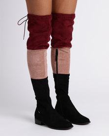 PLUM OTK Flat Boots Wine Red