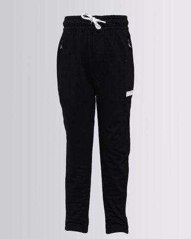 Converse Slim Drop Crotch Joggers Black