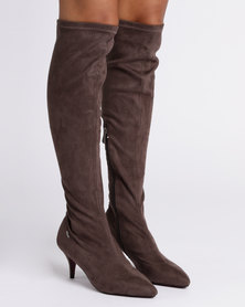 PLUM Kitty Knee High Boot Taupe
