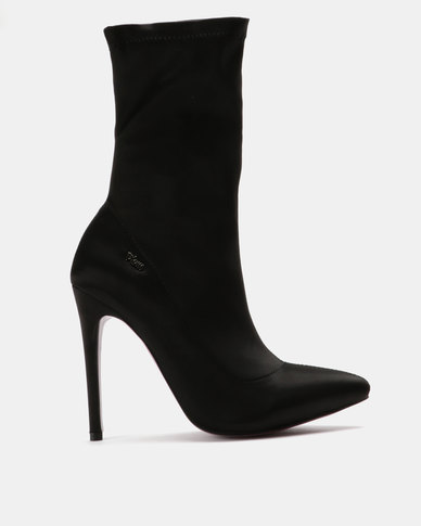 PLUM Mid-Calf Heeled Boots Black
