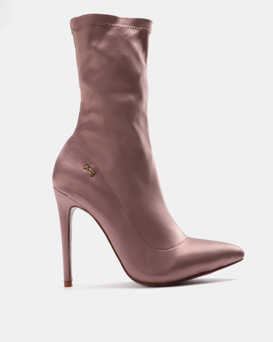 PLUM Mid-Calf Heeled Boots Mink