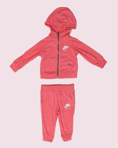 47004acaef1c Nike NK Girls Gym Vintage 2 Piece Pant Set Sea Coral