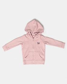 Parental Instinct Full Zip Hoody Pink