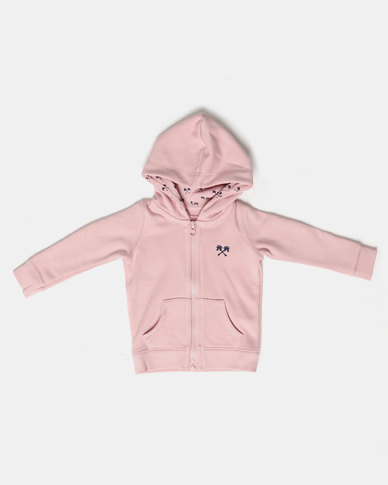 Parental Instinct Full Zip Hoody Pink