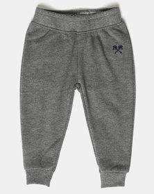 Parental Instinct Fleece Pants Grey Marl/Navy