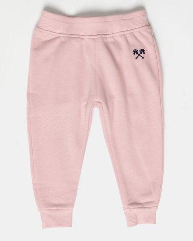 Parental Instinct Fleece Pants Pink