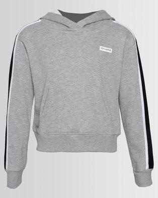 1822c879af5e Converse Retro Trim Cropped Pullover Grey