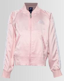 Nike NKG Girls DriFit Satin Jacket Red/Orange