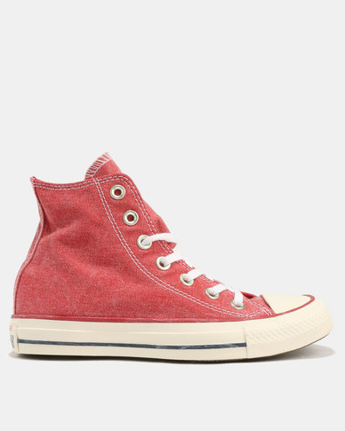 713a082eb78b Converse Chuck Taylor All Star Sneakers Stone Wash Enamel Red Enamel  Red White