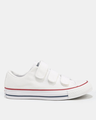 c7d06ced3 Converse Chuck Taylor All Star 3V Canvas Sneakers White White Black ...