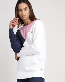 Converse Core Colour-blocked Oversized Crew Multi