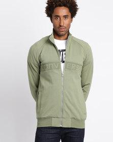 Converse Mesh Rib Track Jacket Green