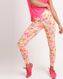 Bfit Active Wear Tropical Flowers Tights Multi
