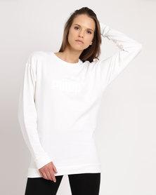 Puma Essential No.1 Crewneck Sweater White