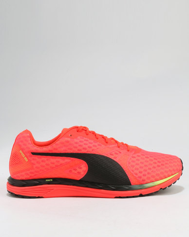 b95287348c7c Puma Performance Speed 300 IGNITE 3 Sneaker Black Black Yellow