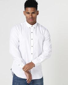 Deacon Vivid Long Sleeve Stretch Shirt White