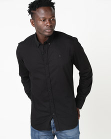 Deacon Vivid Long Sleeve Stretch Shirt Black
