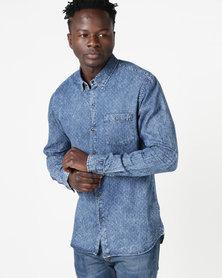 Deacon Curtail Long Sleeve Shirt Blue