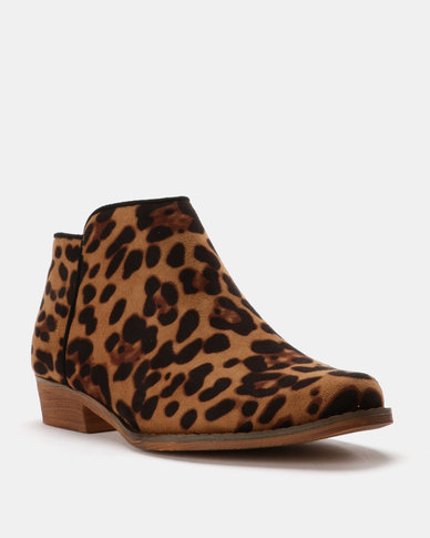 cheapest price cheap online Utopia Utopia Ankle Boots Leopard outlet store online top quality cheap price buy cheap huge surprise 7XP2q