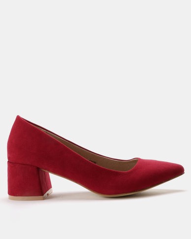 Utopia Utopia Block Heel Courts Burgundy quality from china cheap buy cheap 100% original release dates cheap price clearance sale YueD9k