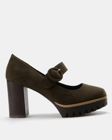 Utopia Mary Jane Platforms Khaki