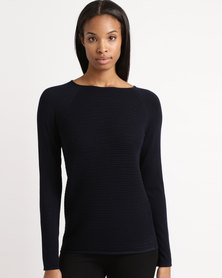 cath.nic By Queenspark Core Knitwear Jersey Navy