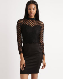 cath.nic By Queenspark Victorian Lace Woven Dress Black
