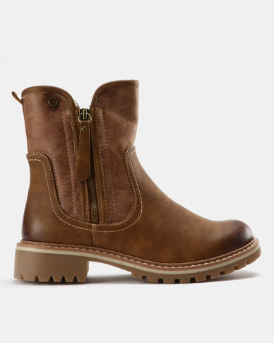 Bronx Women Bronx Women Jess Ankle Boots Brown for sale cheap authentic n1ARiOq
