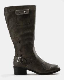 Bronx Women Pamelo Knee High Boots Grey