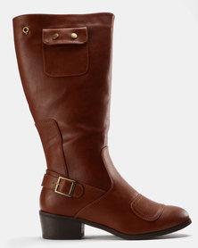 Bronx Women Pamelo Knee High Boots Brown