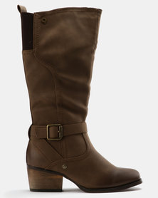 Bronx Women Bronx Lindiwe Knee High Boots Brown latest collections cheap online buy cheap hot sale jZ903DHTY